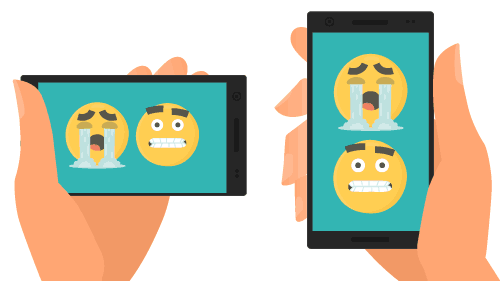 Onze video's kunnen aan elk sociaal formaat worden aangepast