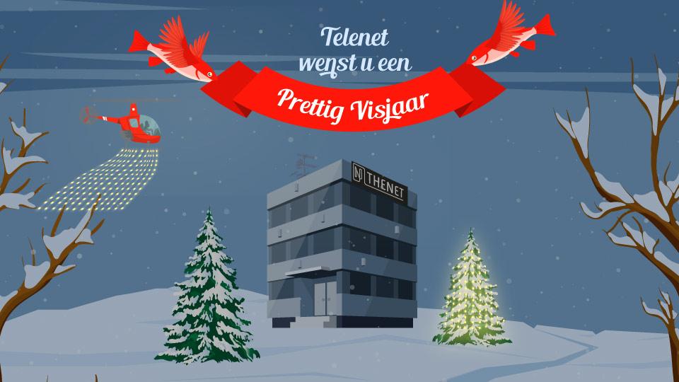 Kerstkaart Telenet The Net
