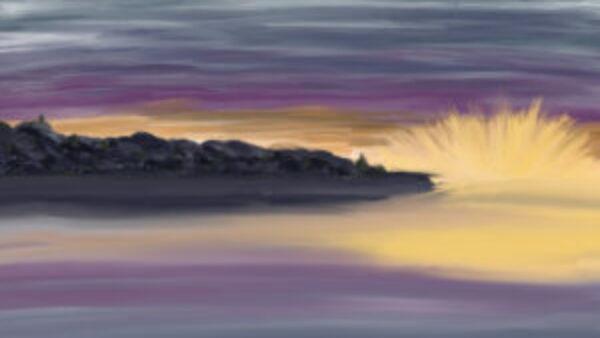 Rots in de branding: ProCreate schilderijtje gemaakt in Amalfi
